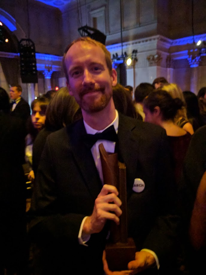 Nate Powell at the National Book Award After Party